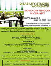 Disability Studies Workshop: Technology, Pedagogy, Disciplinarity
