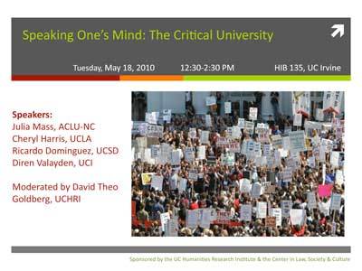 Speaking One's Mind: The Critical University