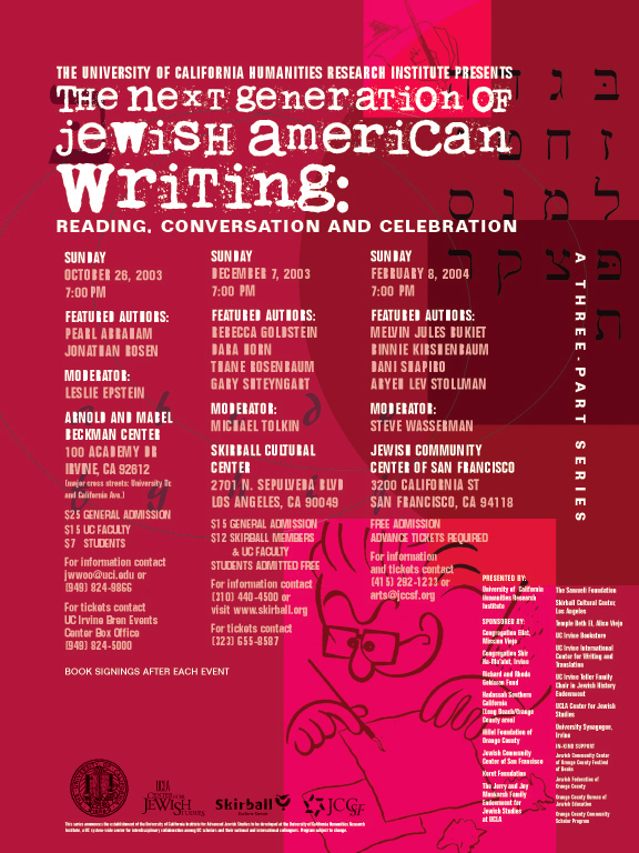 The Next Generation of Jewish American Writing: Reading, Conversation and Celebration