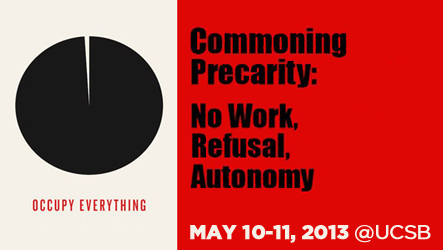 Commoning Precarity: No Work, Refusal, Autonomy