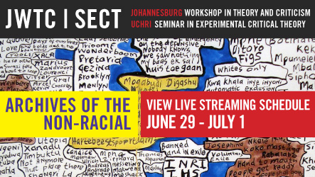 Archives of the Non-Racial: Livestream schedule