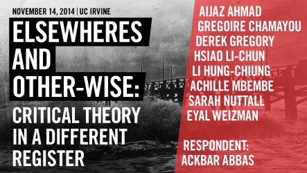 Elsewheres and Other-wise: Critical Theory in a Different Register